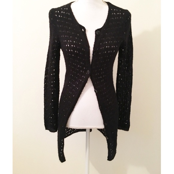 new arrivals 7a47e 8e0cf Black knitted cardigan sweater